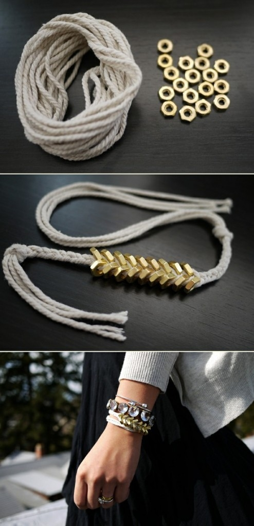 ink inside out-anna castillo-Fashion and  Beauty-Easy DIY Braided Gold Nut Bracelet-November 2013